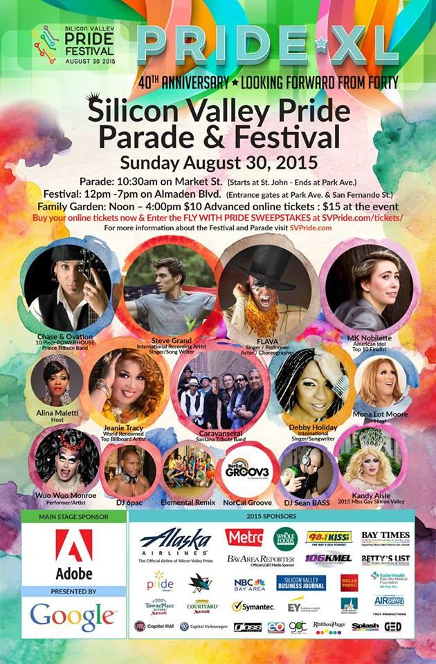 Silicon Valley Pride festival poster.